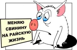 Сатирическая басня Свинья и телевизор